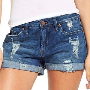 3/$12 Stretchy Amazon Distressed Denim Shorts S